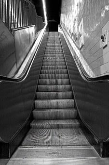 Escalator, Underground, Subway, City, Metro, Transport