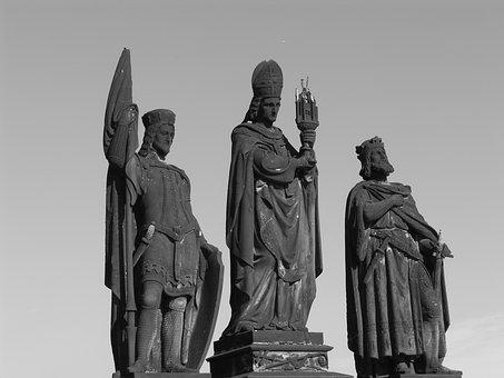 Charles Bridge, Statues, Prague, Travel, Motive