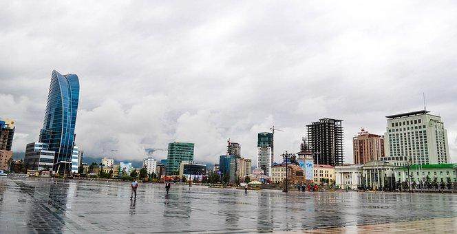 Ulaanbaatar, City, Square, Central, Urban, Modern