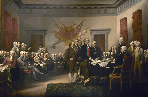 Declaration Of Independence, United States, Usa