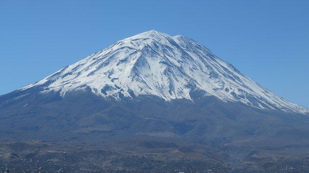 Arequipa, Peru, Misti, Volcano, City White