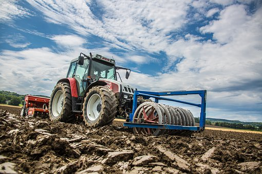 Tractor, Field, Agriculture, Arable, Work, Farmer