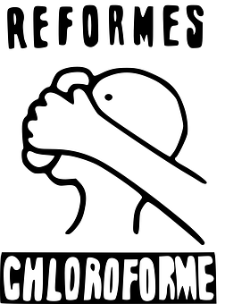 Poster, Reform, Chloroform, Movement, Political, France
