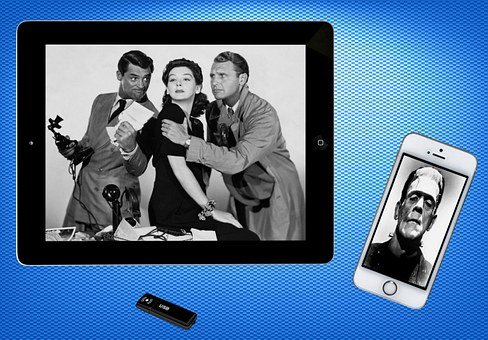 Ipad, Mobile Phone, Movies, Black And White, Phone