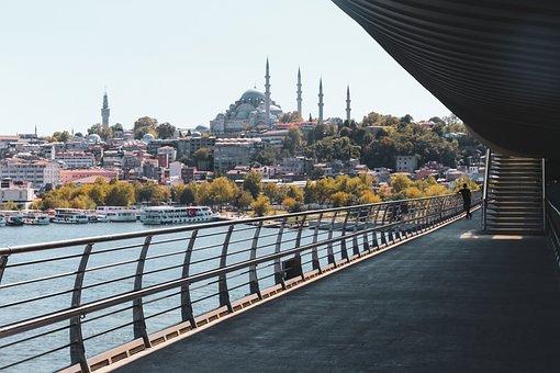 Bridge, Perspective, M, Silhouette, Shadow, Minimalist