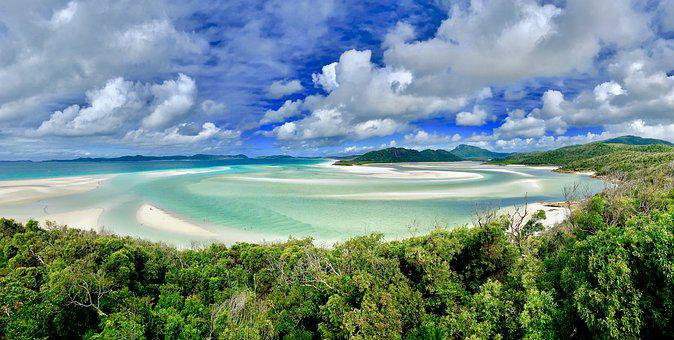 Whitehaven Beach, Beach, Australia, White Sand, Lagoon
