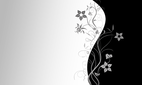 Wallpaper, Black, White, Decorative