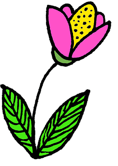 Drawing, Flower, Nosegay, Nature, Pink