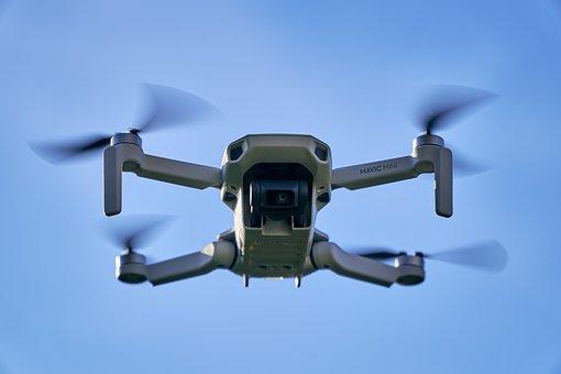 Drone, Dji Mavic Mini, Aircraft, Flying, Rotors