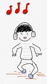 Boy, Dance, Music, Headset, Headphone, Child, Kid