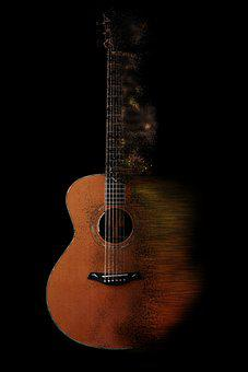 Guitar, Music, Instrument, Acoustic, Resolution, Sound