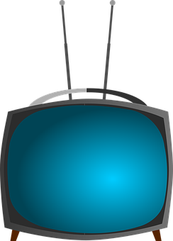 Tv, Television, Set, Antenna, Vintage