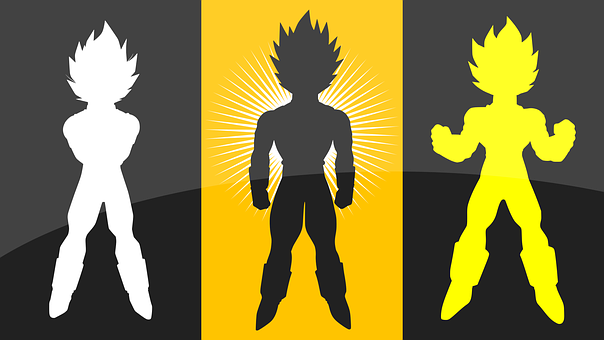 Dragon Ball, Silhouettes, Anime, Goku, Character