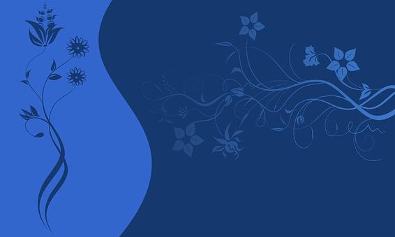 Wallpaper, Blue, Decorative, Background