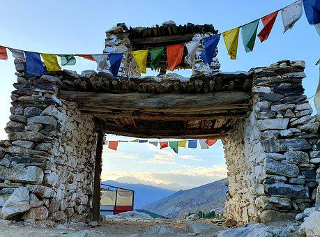 Monastery, Buddiest, Himachal, India, Himalayas, Manali