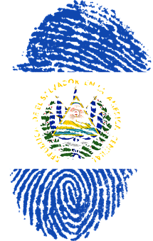 El Salvador, Flag, Fingerprint