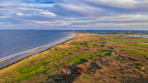 Golf Club, Baltray, Ireland, Landscapes, Nature, Water