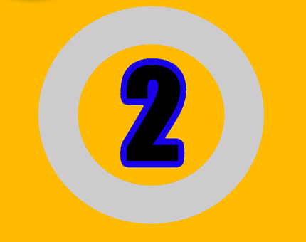 Two, Number, Numbers, Digit, Design, Sign, Text, Symbol