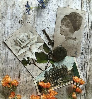 Old Postcard Photo, Memory, Old, Vintage, Collection