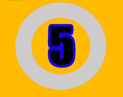 Five, Number, Numbers, Digit, Design, Sign, Text