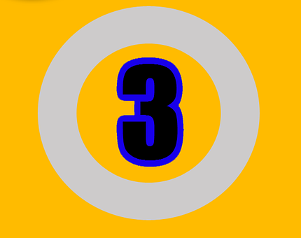 Three, Number, Numbers, Digit, Design, Sign, Text