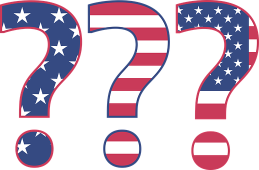 Question, Answer, Mark, Star, Stripes, Flag, Red, White