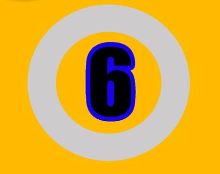 Six, Number, Numbers, Digit, Design, Sign, Text, Symbol