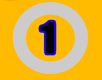 One, Number, Numbers, Digit, Design, Sign, Text, Symbol