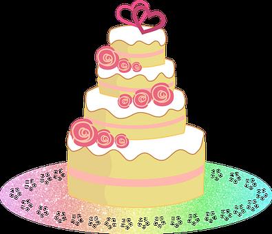 Cake, Wedding Cake, Dessert, Party, Celebration, Sweets