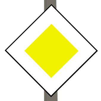 Traffic Sign, Dutch, Major Road, Europe