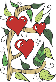 Heart, Tree, Flower, Romantic, Love, Valentine's Day