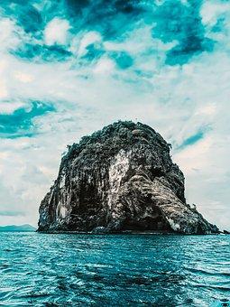 Sea, Roche, Ocean, Water, Lighthouse