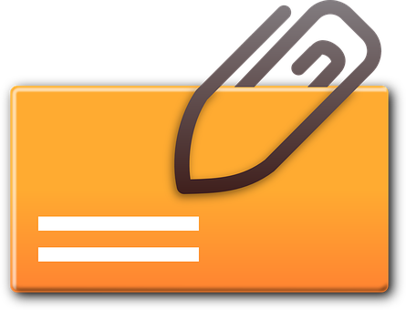 Attachment, Mail Attachment, Card, Paperclip