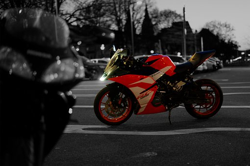 Ktm Rc 125, Motorcycle, Black And White, Moped, Freedom