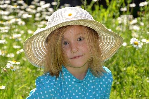 Child, Girl, Happy, Nature, Female, Garden, Meadow