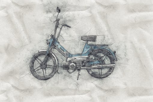 Puch, Puch Maxi, Moped, Sketch