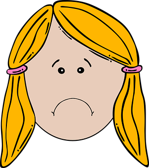 Girl, Face, Unhappy, Sad, Frowning, Upset, Female