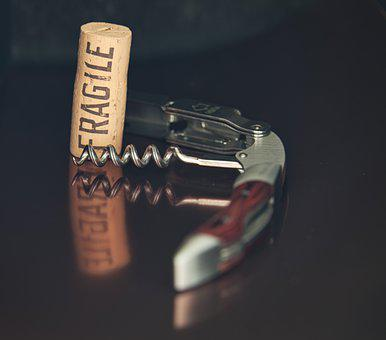 Corkscrew, Use Article, Still Life, Cork, Wine