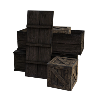 Wooden, Boxes, Crates, Old, Box, Table, Flat, Mail