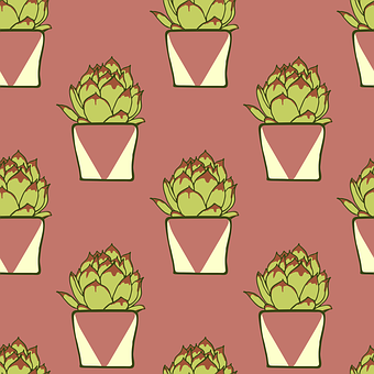 Cactus, Pattern, Background, Texture, Graphics