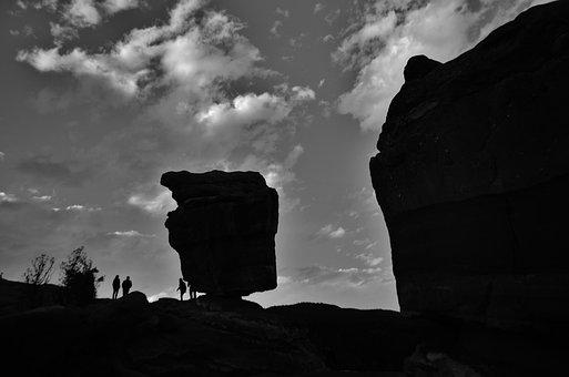 Black White, Silhouette Colorado, Usa, America, Travel