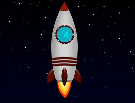 Space Rocket, Graphic World, Missile In Space
