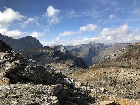 Towards The Schwarzhorn, Alpine Route, Alps, Alpine
