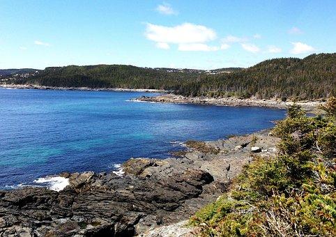 Newfoundland, East, Coast, Hiking, Trail, Canada, Rocks
