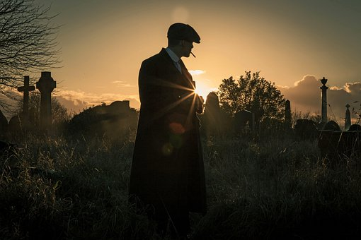 Peaky Blinders, Tomm Shelby, Sunset, Smoke, Landscape