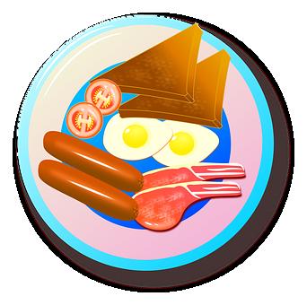 Bacon, Breakfast, Egg, Food, Fried, Meal, Menu, Plate