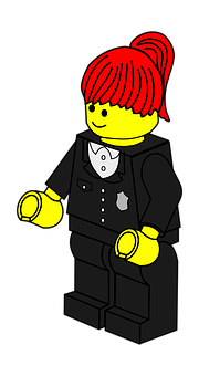 Policewoman, Lego, Toy, Police, Woman, Town
