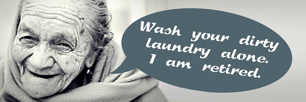 Pension, Woman, Old, Laundry, Dirty, Gossip, Bad
