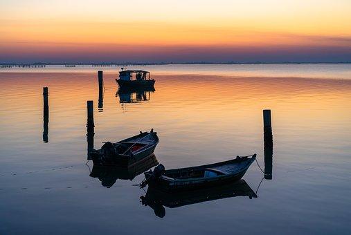 Rovigo, Veneto, Acqua, Water, Delta Del Po, Boats