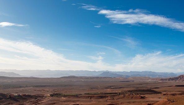 Morocco, Desert, Africa, Landscape, Hill, Nature